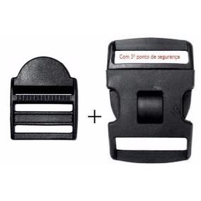 2 Reguladores + 2 Fivelas/ Engate Rápido Com 3 Travas 50mm