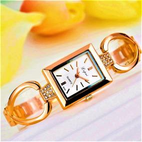Relógio Feminino Quartzo De Luxo Dourado Classic 40% Off