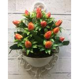 Arranjo De Parede Artificial Tulipa Laranja Provençal