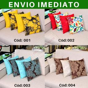 Kit De Almofadas Decorativas 4 Peças 45cm Cheias Estampadas