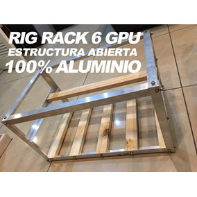Rig Rack Case 6 Gpu Estructura Para Mineria Minero Minar Btc