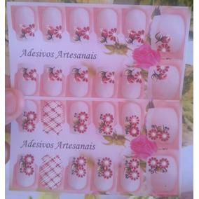 Kit Com 50 Cartelas De Adesivos Artesanais Para Unhas