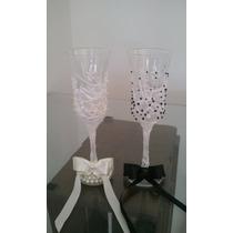 Par De Taças Luxo Personalizada Casamento- Brinde Dos Noivos