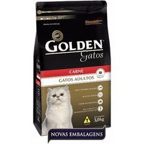 Ração Para Gato Golden Gatos Ad Carne 3kg Premier
