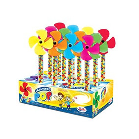 Brinquedo Catavento Com 12 Cataventos - 10 Unidades