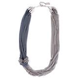 Collar Plateado Y Peltre De Cadena- Tienda Puro Diseño