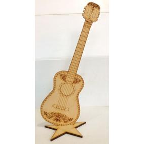Figura Guitarra Acustica Mdf Tipo Coco 45 Cm Centro Mesa