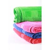 Toallon Color Hotelero 100% Alg 400 Gr Guarda A Cuadros G&d