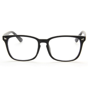 Marco Montura Negra Cuadrada Plástica Rectangular Geek