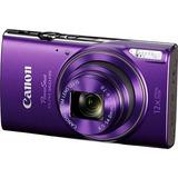 Cámara Digital Púrpura Canon Powershot Elph 360 Hs Con Zoo
