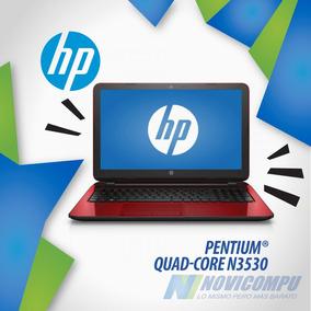 Laptop Hp Intel Quad Core+ 500gb+ Dvdwr+ Cam+ Color Roja
