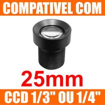 Mini Lente 25mm P/ Mini Camera E Micro Camera - Lente Cftv