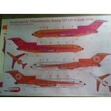 Trasnbrasil Boeing 727-100 Em Escala 1/144
