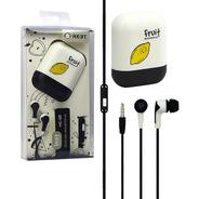 Auricular In Ear Cable Microfono Fruit Estuche Color Niños