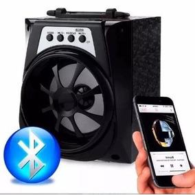 Caixa Som Caixinha Bluetooth Mp3 Usb Cartão Fm P2 Aux Top