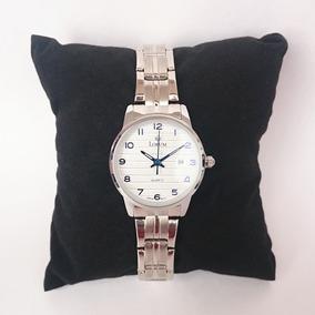 Reloj Femenino Acero Inoxidable Con Manecillas Azules
