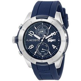 2010761 Tonga Reloj De Plata-tone Lacoste Con Banda De...