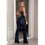 Calca Jeans Feminina Cintura Alta Skinny Black  Pit Bul Jean