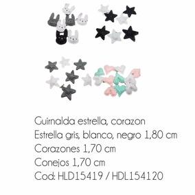 Guirnalda Textil Corazones, Estrellas, Conejitos Para Bebe