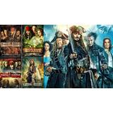 Saga Completa De Piratas Del Caribe (5 Disco Bluray)