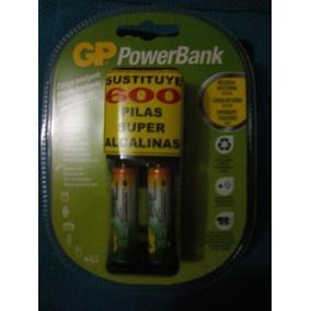 Cargador Batería Gp Powerbank Aa Y Aaa Nimh 2aaa Incluidas.