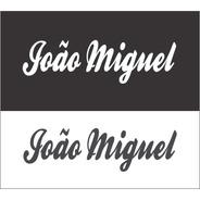 Adesivo Nome ( João Miguel ) 23cm X 6,5cm Preto Recorte