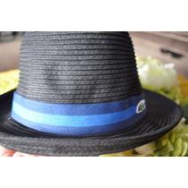 Sombrero Lacoste Original Straw Trilby Unisex Paja