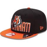 Boné New Era Aba Reta Snapback Nfl Bengals Draft City