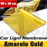 Película Farol Cor Amarelo Gold Importada Carro Ou Moto