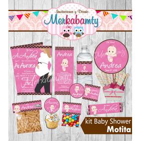 Invitacion Baby Shower Niña Motita Kit Imprimelo Tú!