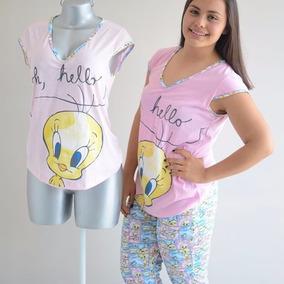 Pijama Piolin Pants Manga Corta Rosa Pj088