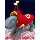 Disfraz Chapulin Colorado Perro Chicos 25 Cm Moron Julypets