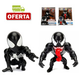Jada Metals Set Oferta Spiderman Black Suit Y Venom