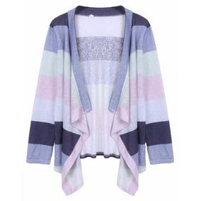 Tsuki Moda Japonesa: Cardigan Sueter Lineas Largo Casual