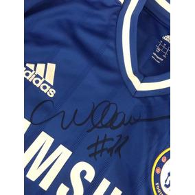 b20f7faaeb Camiseta Chelsea Usada E Autografada Pelo Jogador Willian