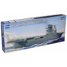 Barco De Guerra Uss Lexington Cv-2 05/1942 Para Armar -nuevo