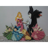 Figuras De Mdf 6 Personajes De Aurora (disney)