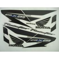 Kit Adesivos Faixas Honda Cbx 250 Twister 2007 Prata