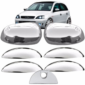 Aplique Cromado Corsa Hatch Kit Maçaneta + Retrovisor + Mala