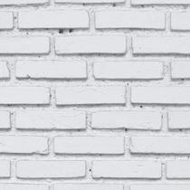 Papel De Parede Pedras Tijolos Brancos Adesivo Vinílico