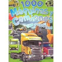 1000 Máquinas Y Camiones (1000 Pegatinas); Equi Envío Gratis