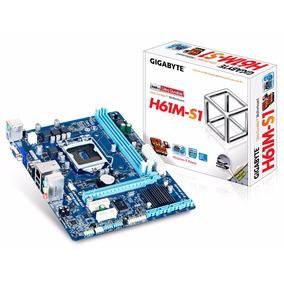 Placa-mãe Gigabyte P/ Intel Lga 1155 Matx Ga-h61m-s1