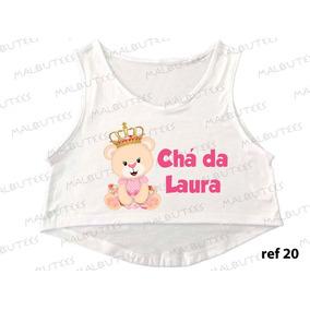Cropped Chá De Bebe Ursinha Princesa Gestante Com Nome 20
