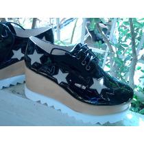 Zapatos Calzado Oxford Dama Plataformas Estrellas