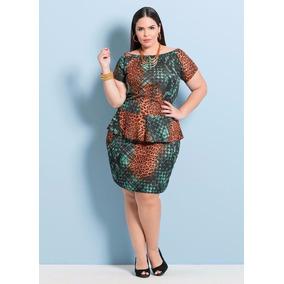 Vestido Tubinho Plus Size Moda Evangélica