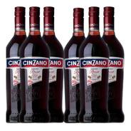 Caja X 6 Cinzano Rosso - 950ml - Aperitivo Grupo Campari