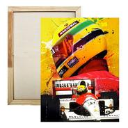 Quadro Airton Senna  Impressão Em Tela De Pintura 30x40 Cm