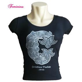 Camiseta Do Corinthians Feminina Cp 1910 - Camisetas e Blusas no ... 6072f32fbd7d3