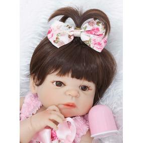 Bebê Reborn Toda Silicone Boneca Victoria 55cm + Brinde