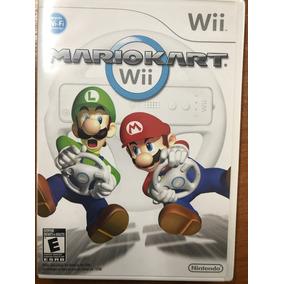 Juego Nintendo Wii Mario Kart Con Volante Original De Regalo